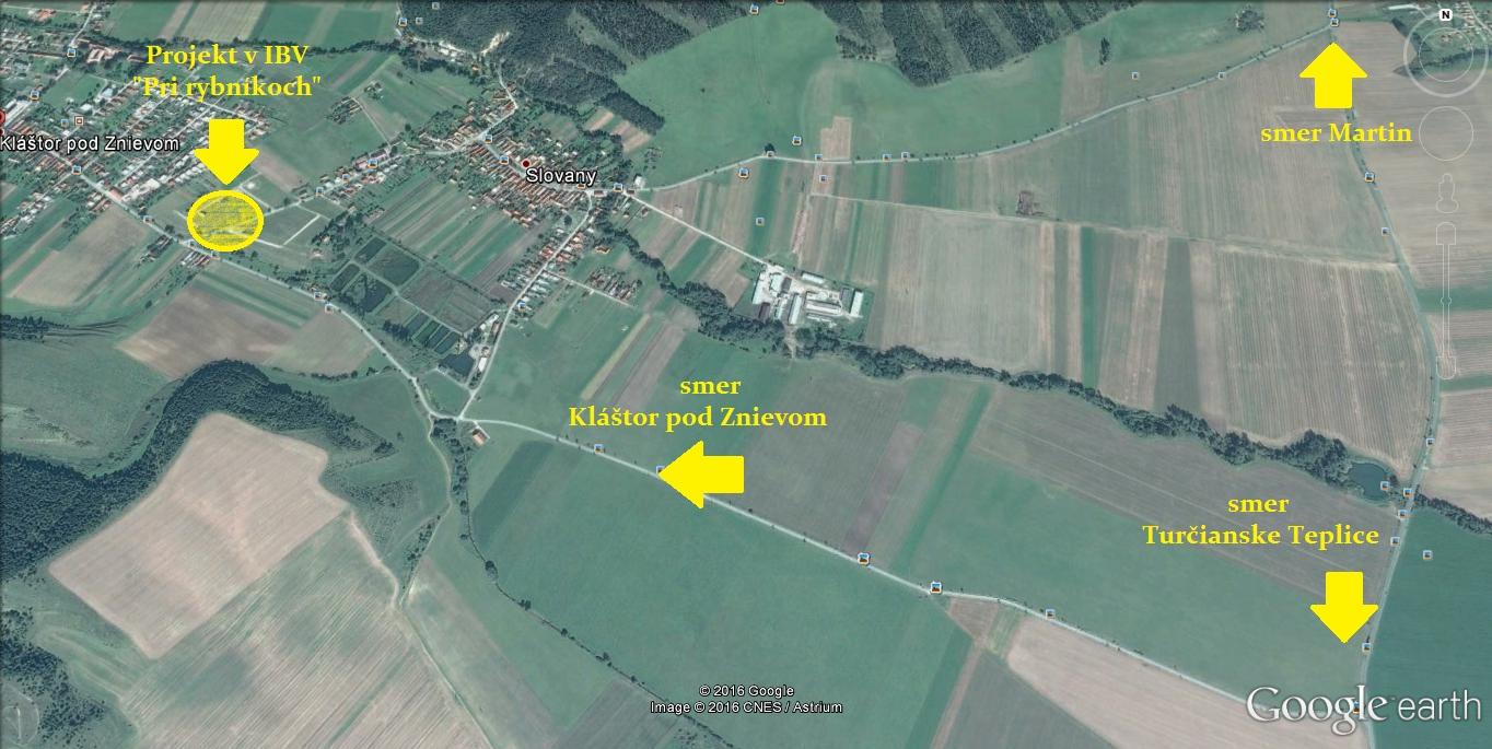 IBV Kláštor::mapa