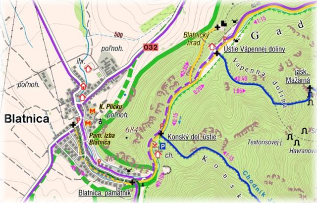 Blatnický hrad ::mapa
